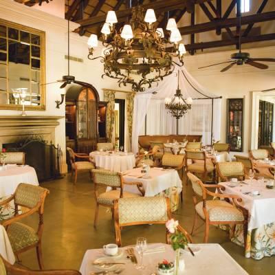 The Royal Livingstone dining room