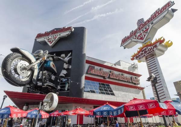 Las Vegas The Strip Harley Davidson Cafe