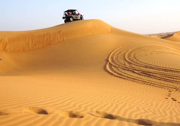 Sand safari with jeep