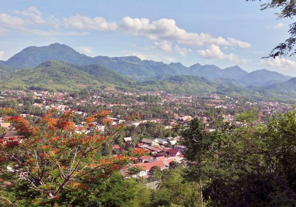 View from Mount Phousi Laos