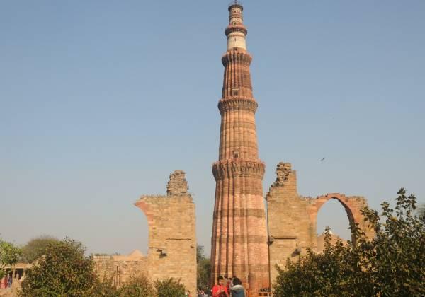 a close up of Qutub Minar