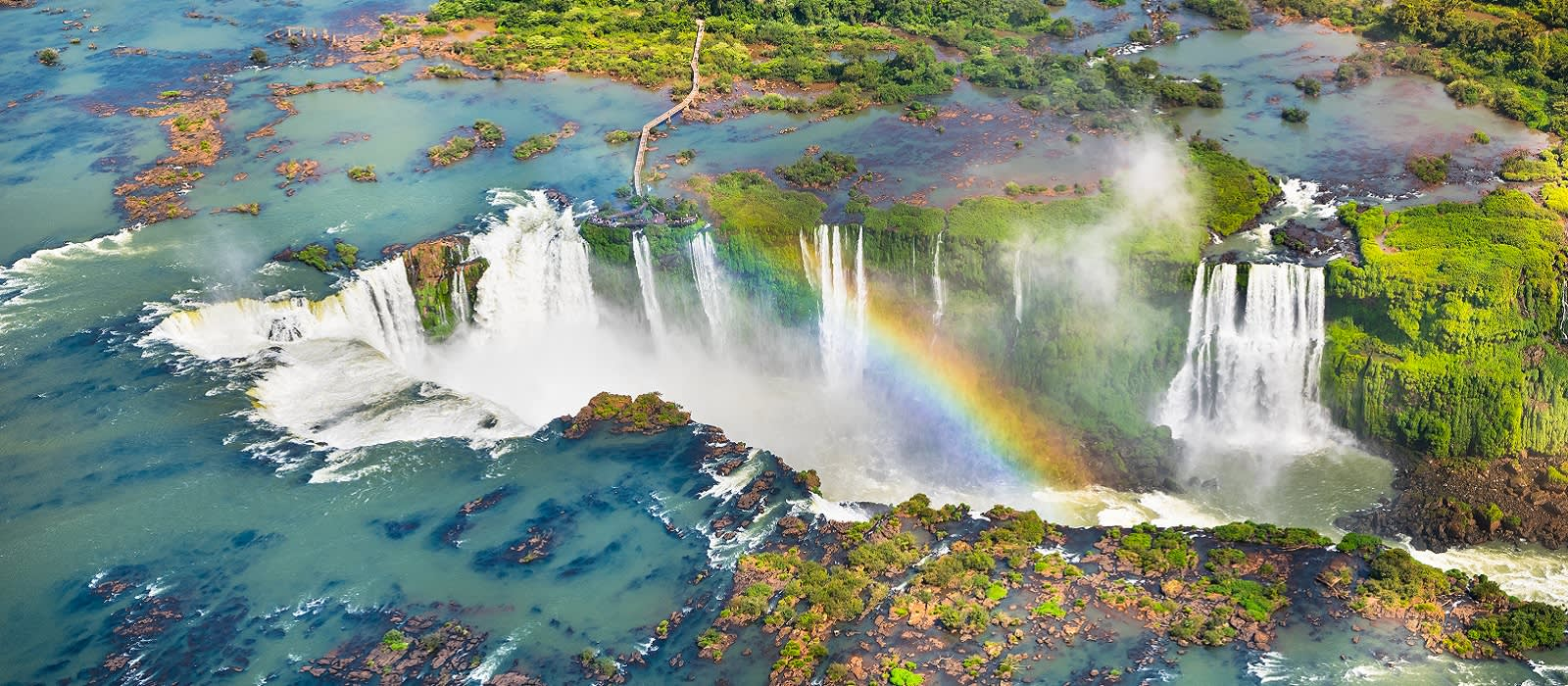 Enchanting Travels South America Tours Beautiful aerial view of Iguazu Falls