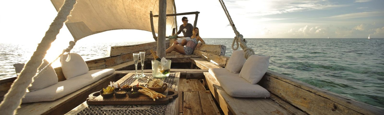 Boat riding and dinning in Tanzania