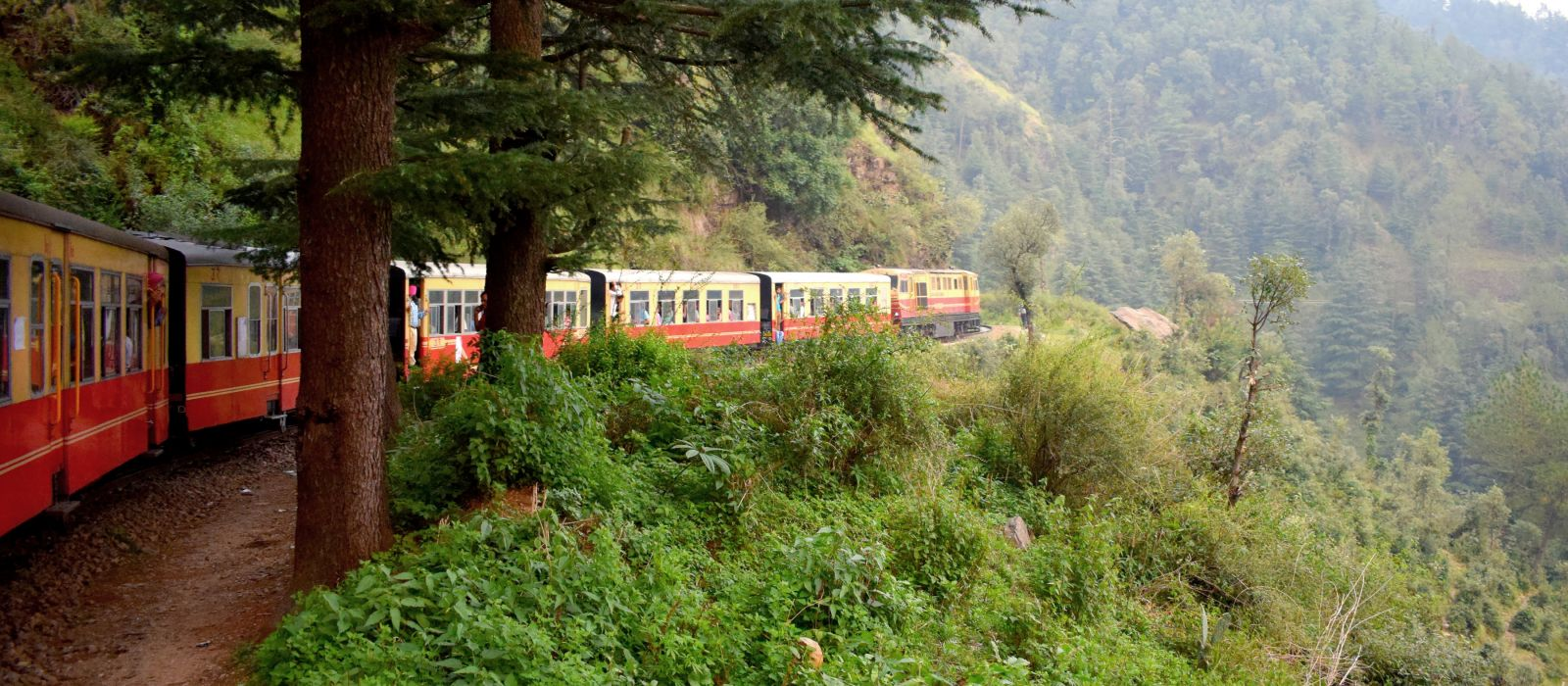 Toy train from Shimla to Kalka in India