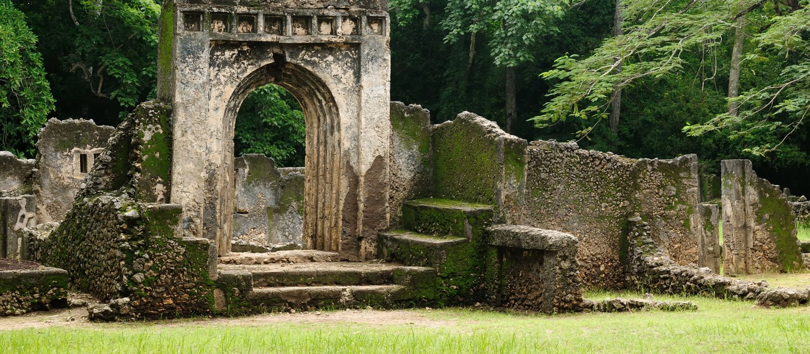 Kenya, Gede ruins are the remains of a Swahili town located in Gedi, a village near the coastal town of Malindi