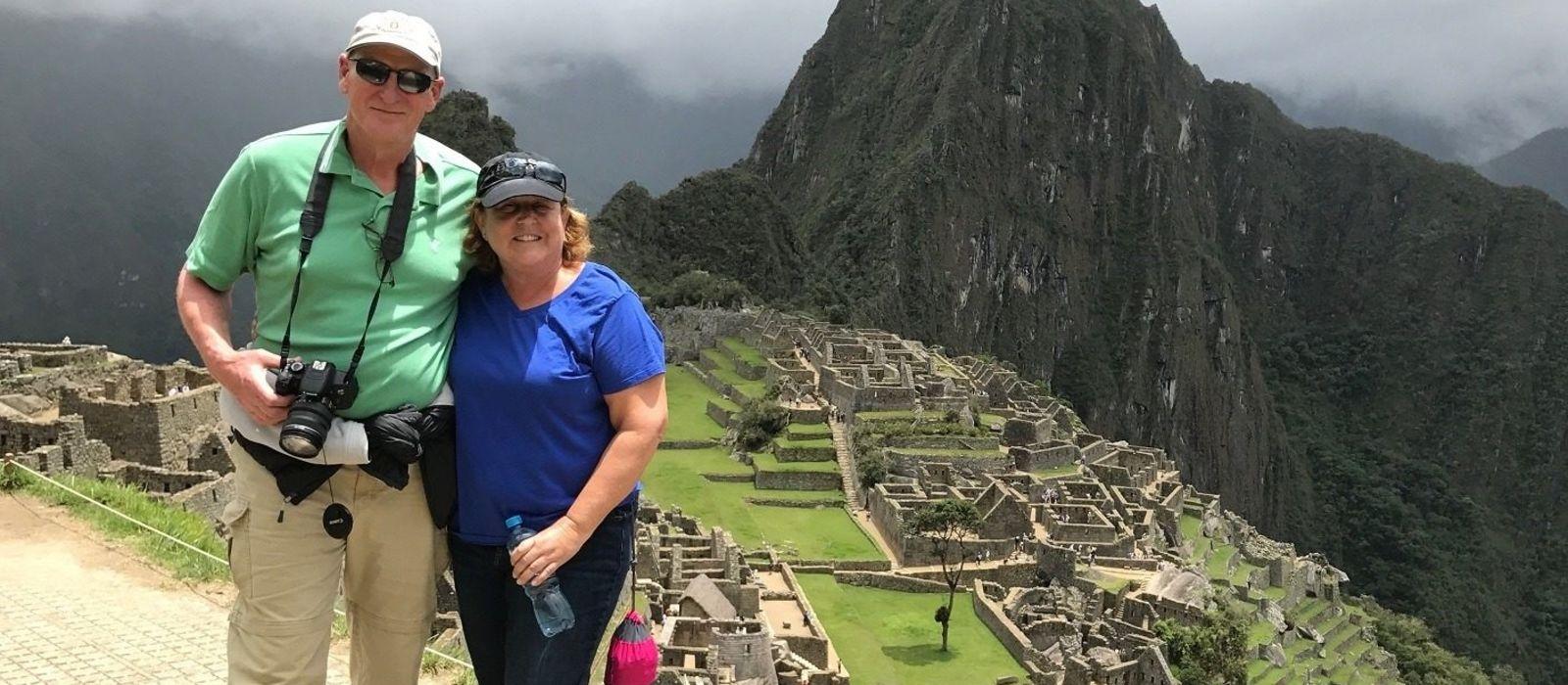 Glenn Frank Enchanting Travels Guest in Machu Picchu Peru South America