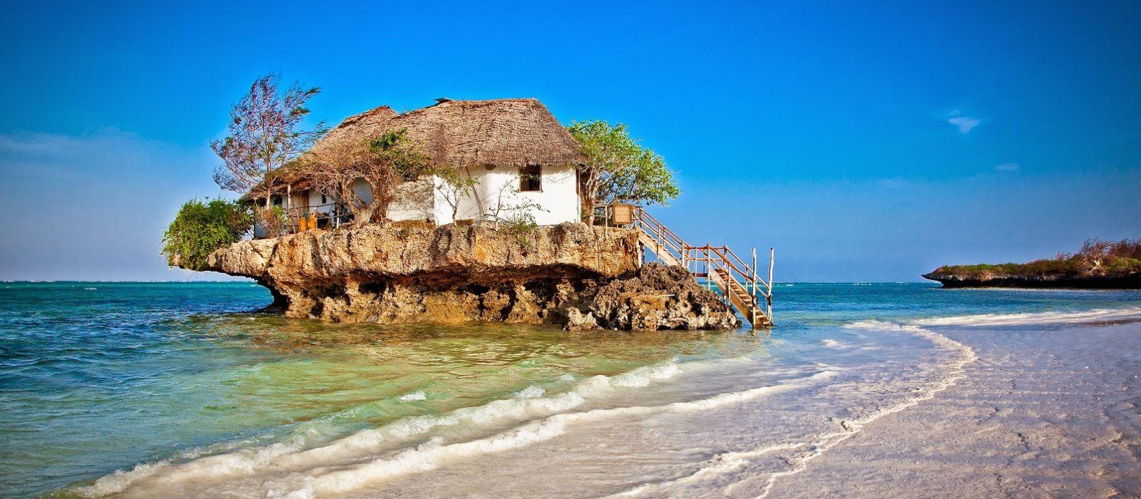Rock Restaurant over the sea in Zanzibar, Tanzania, Africa, shutterstock_180192350