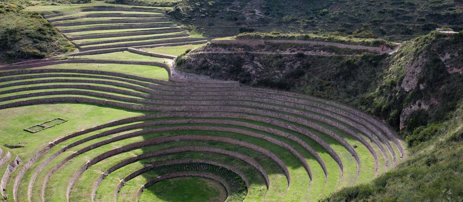 Inca's knowledge. Moray, Sacred Valley, Cusco, Peru, South America