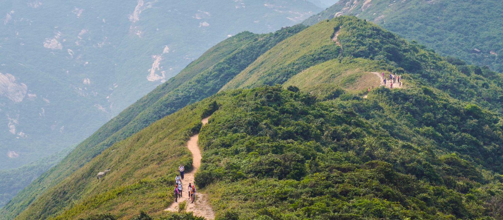 Hongkong Wanderwegkulisse - Dragon's Back, Asien