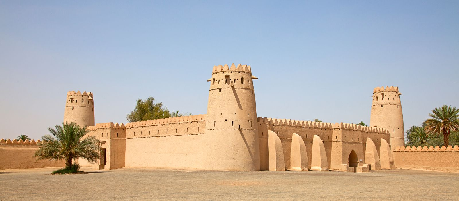 Berühmtes Jahili Fort in der Oase Al Ain, Vereinigte Arabische Emirate