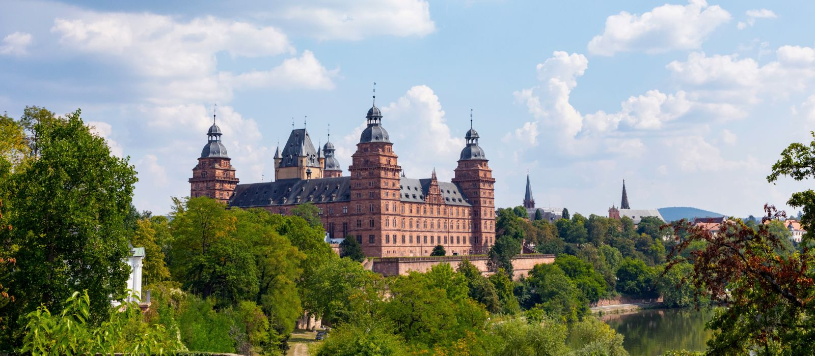 famous city castle in Aschaffenburg, Bavaria, Germany, Europe