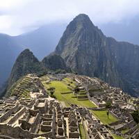Arial view of Machu Picchu, Peru