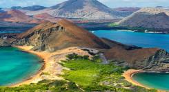 Two Beaches in Bartolome Island in Galapagos Islands
