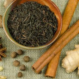 Black tea and spices for Garam Masala Chai Tea