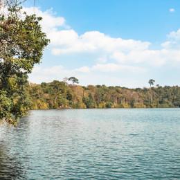 Tranquil volcanic lake - one of the many in Rattanakiri
