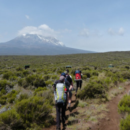 Hiking to Mount Kilimanjaro in Tanzania