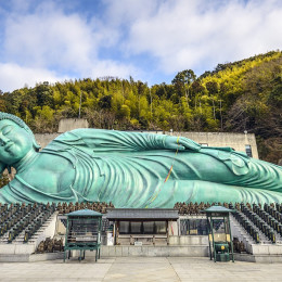 The Reclining Buddha of Nanzoin Temple in Fukuoka, Japan