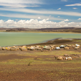 Turkana Village by Lake Turkana
