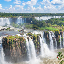 Part of The Iguazu Falls seen from the Argentina National Park, South America