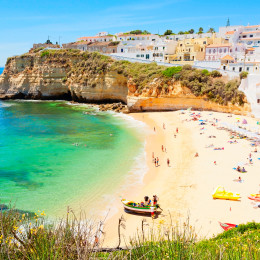 Beautiful beach in Algarve, Portugal - Summer is the best time to visit Europe