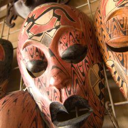 Masks in a Malaysian market