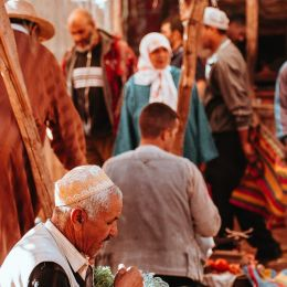 Busy market in Marrakech