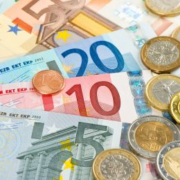 Euro currency, coins and banknotes, Germany