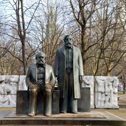 Enchanting Travels Germany Tours Statues of Karl Marx and Friedrich Engels, near Alexanderplatz, in the former East Berlin