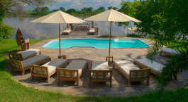 Pool at Kanyemba Island Bush Camp Hotel in Lower Zambezi, Zambia