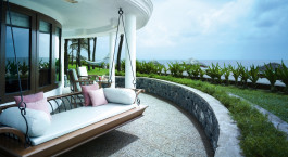 Private terrace at Vivanta by Taj – Fishermans Cove, Chennai Hotel in Mamallapuram, South India