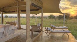 Tent with outdoor area at Mara Bushtops Luxury Tented Camp, Masai Mara in Kenya