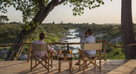 Terrace at Rekero Tented Camp Hotel in Masai Mara, Kenya