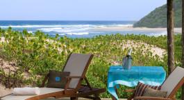 Terrasseaussicht im Hotel Thonga Beach Lodge in Isimangaliso, Südafrika