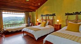 Zweibettzimmer im Hacienda La Alegría Hotel in Cotopaxi, Ecuador/Galapagos
