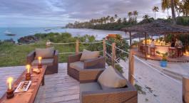 Outdoor area at Matemwe Lodge Hotel in Zanazibar, Tanzania