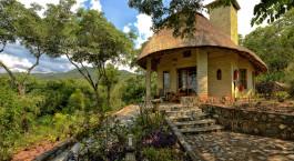 Außenansicht im Hotel Musangano Lodge in Eastern Highlands, Zimbabwe