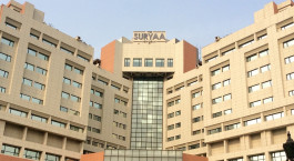 Außenansicht im Hotel The Suryaa, Delhi, Nord Indien