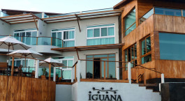 Exterior view of Iguana Crossing Hotel in Isla Isabela, Ecuador/Galapagos