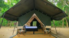 Verandah camping chairs at Leopard Trails Yala - Yala, Sri Lanka