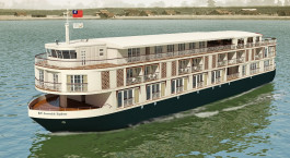 Exterior view of Paukan Cruise in Mandalay/Ayeryaddy, Myanmar