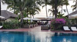Pool at Bayview Resort Hotel in Ngapali Beach, Myanmar