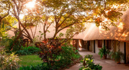 Garden area at Bayete Guest House, Victoria Falls, Zimbabwe