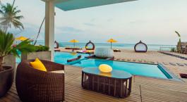 Pool at hotel Casa Mirissa in Mirissa/Weligama in Sri Lanka