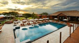 Pool at Bagan Lodge in Bagan, Myanmar