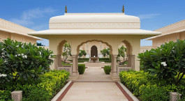Outdoor area at The Oberoi Sukhvilas Spa Resort in Chandigarh, North India