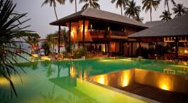 Außenanlage des Anantara Rasananda Koh Phangan Villas in Koh Phangan, Thailand