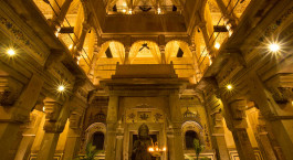 Inside view of Brijrama Palace in Varanasi, North India