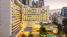 Außenansicht des COMO Metropolitan Bangkok Hotel in Bangkok, Thailand