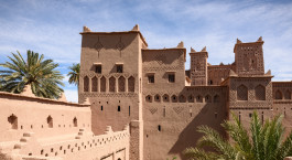 Amridil Kasbah (castle) in the oasis of Skoura