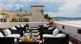 Roof terrace at Madada Mogador in Essaouira, Morocco
